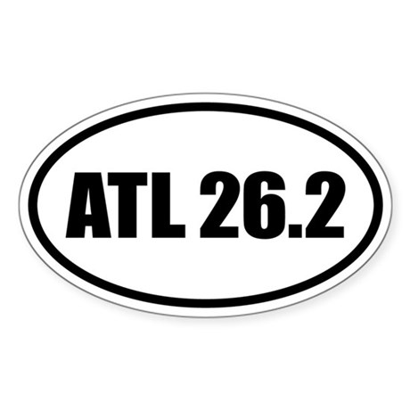 Atlanta Marathon 26.2 Oval Sticker