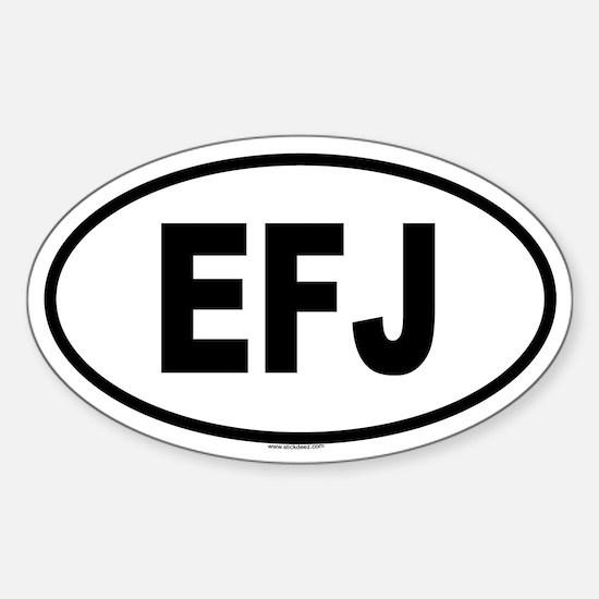 EFJ Oval Decal