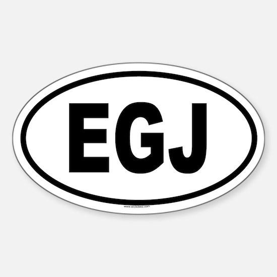 EGJ Oval Decal