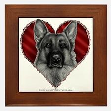 German Shepherd K9 Valentine Framed Tile