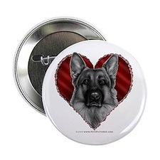 """German Shepherd K9 Valentine 2.25"""" Button"""