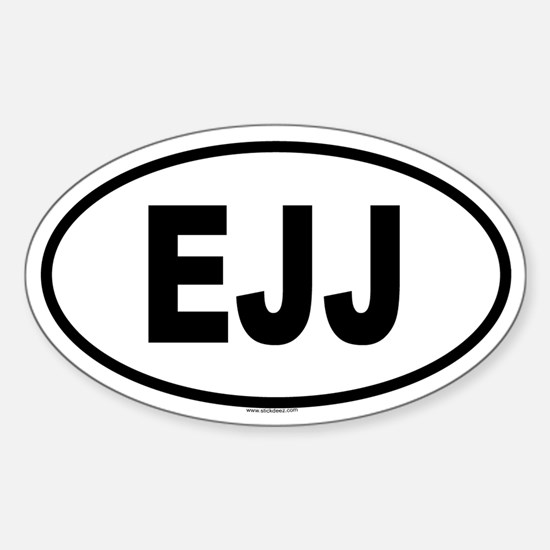 EJJ Oval Decal