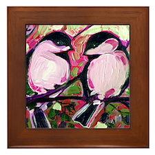 Cute Chickadee Framed Tile