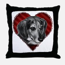 Beagle Mix Valentine Throw Pillow