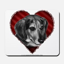 Beagle Mix Valentine Mousepad