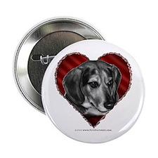"""Beagle Mix Valentine 2.25"""" Button"""
