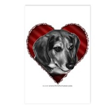Beagle Mix Valentine Postcards (Package of 8)