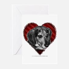 Beagle Mix Valentine Greeting Cards (Pk of 20)