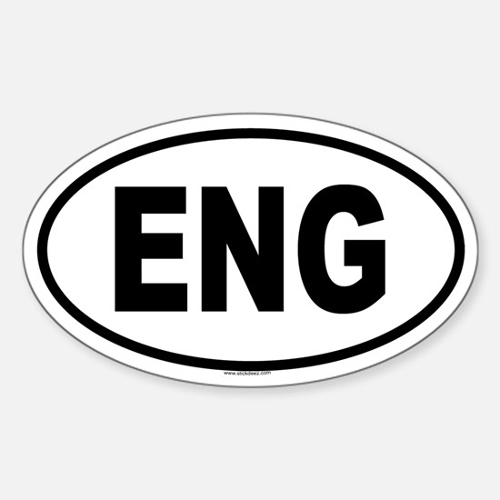 ENG Oval Decal