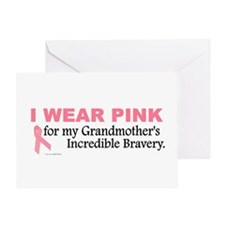 Pink For My Grandmother's Bravery 1 Greeting Card