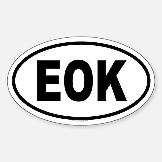 EOK Oval Decal