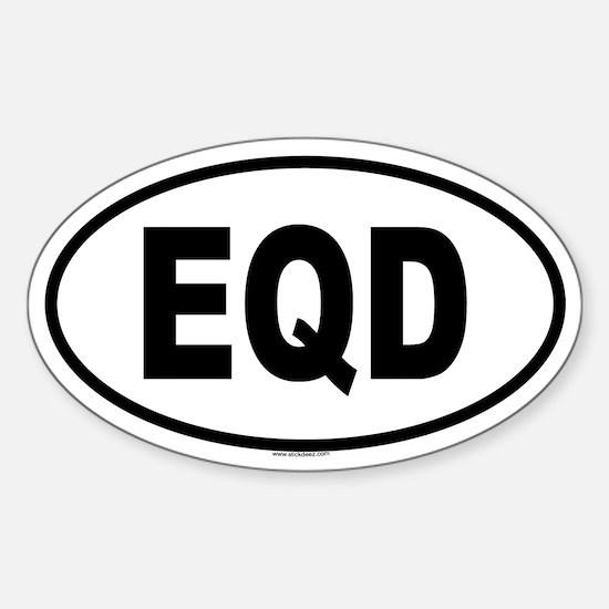 EQD Oval Decal