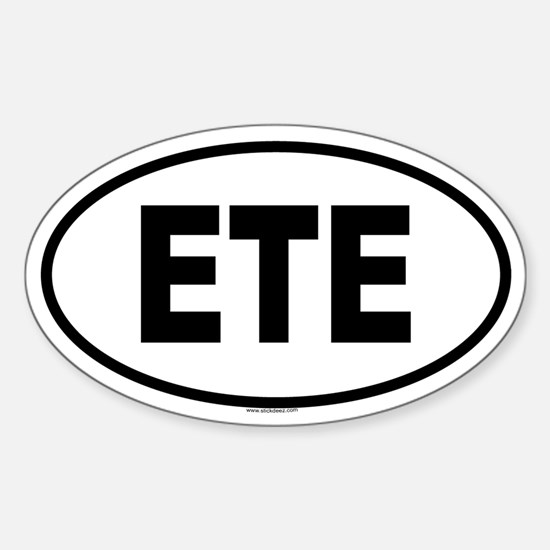 ETE Oval Decal