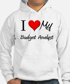 I Heart My Budget Analyst Hoodie