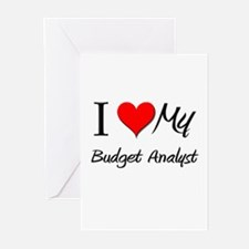 I Heart My Budget Analyst Greeting Cards (Pk of 10