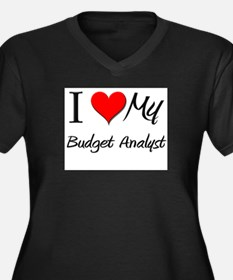 I Heart My Budget Analyst Women's Plus Size V-Neck