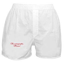 No Autographs Boxer Shorts