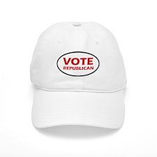 Vote Republican Oval Baseball Cap