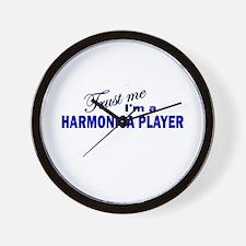 Trust Me I'm a Harmonica Play Wall Clock