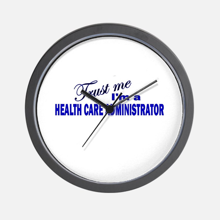 Trust Me I'm A Health Care Ad Wall Clock
