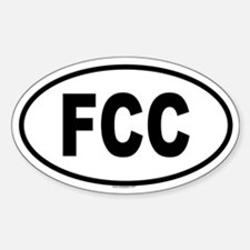 FCC Oval Decal