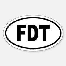 FDT Oval Bumper Stickers