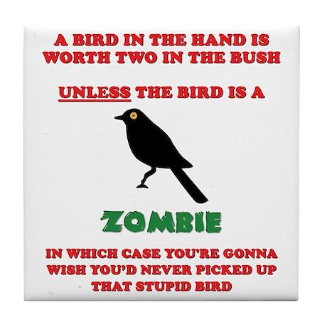 Bird in the Hand Tile Coaster
