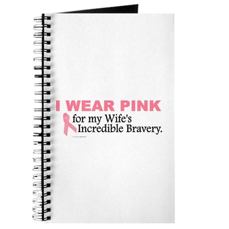 Pink For My Wife's Bravery 1 Journal