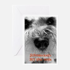 Schnauzer Nose Greeting Cards (Pk of 20)