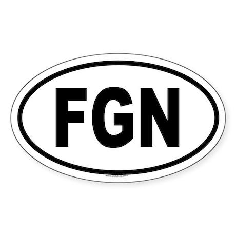 FGN Oval Sticker