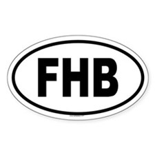 FHB Oval Decal