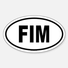 FIM Oval Decal