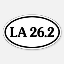 Los Angeles 26.2 Oval Oval Decal