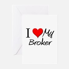 I Heart My Broker Greeting Cards (Pk of 10)