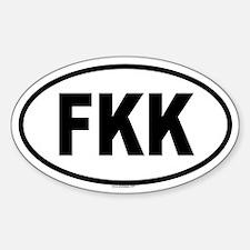 FKK Oval Decal