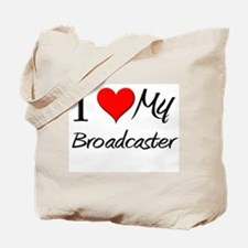 I Heart My Broadcaster Tote Bag