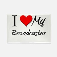 I Heart My Broadcaster Rectangle Magnet
