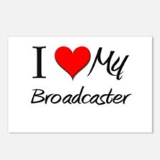 I Heart My Broadcaster Postcards (Package of 8)