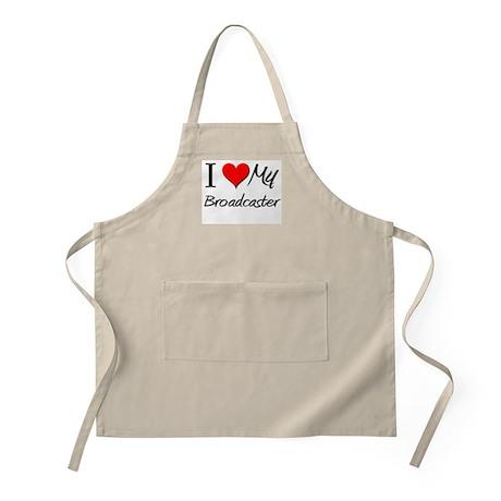 I Heart My Broadcaster BBQ Apron