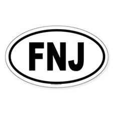 FNJ Oval Decal