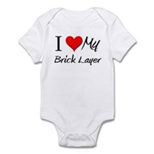 I Heart My Brick Layer Onesie