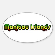 manitouislands.info Oval Decal