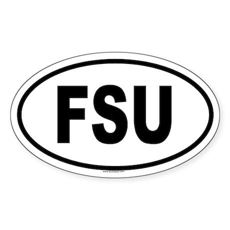 FSU Oval Sticker