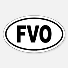 FVO Oval Decal