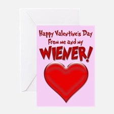 Valentine's Day Wiener Greeting Card