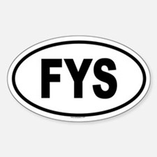 FYS Oval Decal