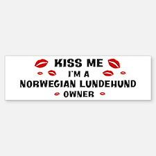 Kiss Me: Norwegian Lundehund Bumper Bumper Bumper Sticker