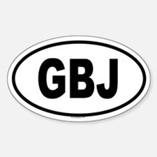 GBJ Oval Decal