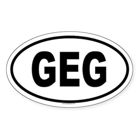 GEG Oval Sticker