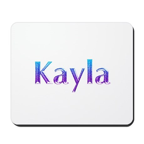 Glitter Name Kayla Mousepad by snatchit